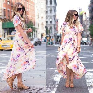 June & Hudson Dresses - June & Hudson Floral Print High/Low Wrap Dress XS